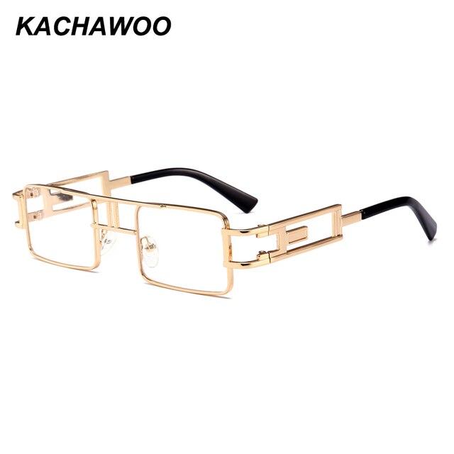 bd0d3742ed0 Kachawoo wholesale 6pcs gothic steampunk glasses men metal frame vintage rectangle  glasses frame women accessories 2018 hot sale