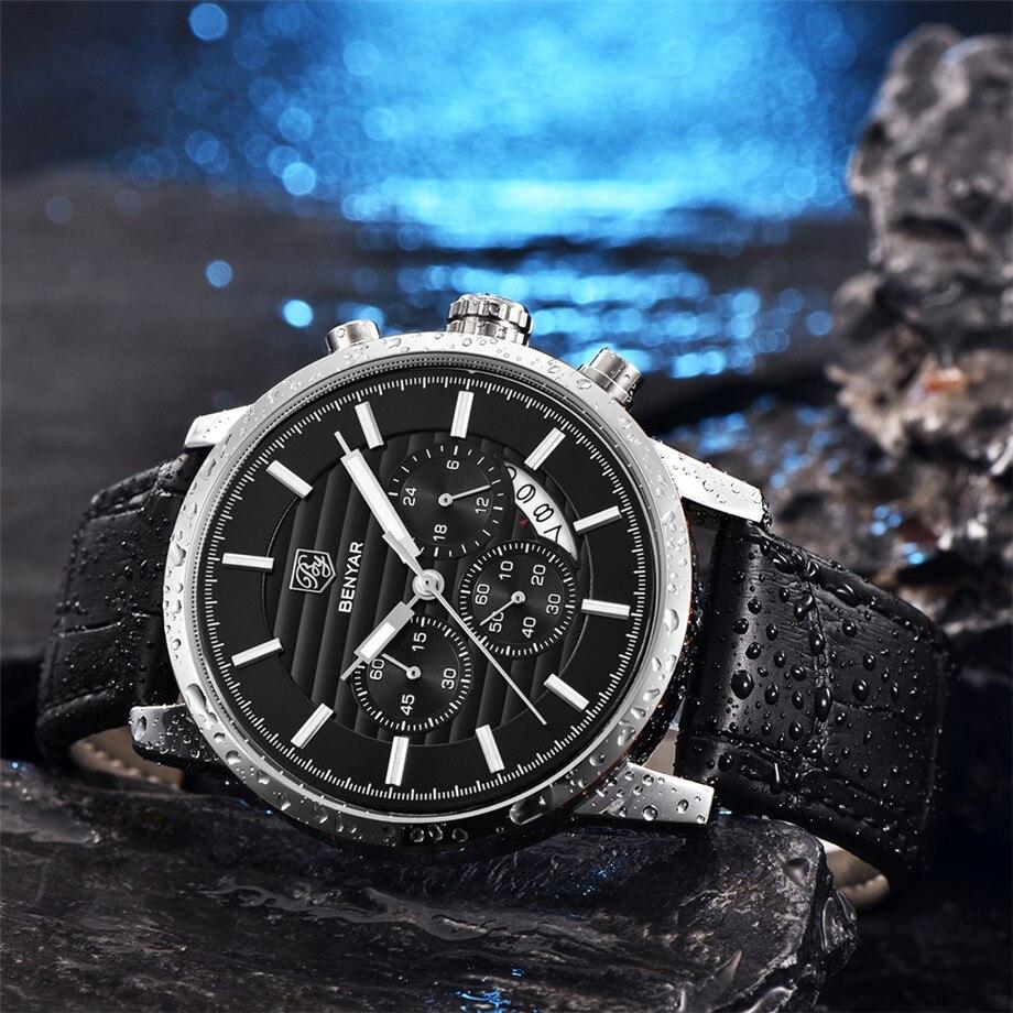BENYAR Watch Men Waterproof Chronograph Business Dress Mans Watches Date Quartz Wristwatches Male Hour relogio masculino 2017 (6)