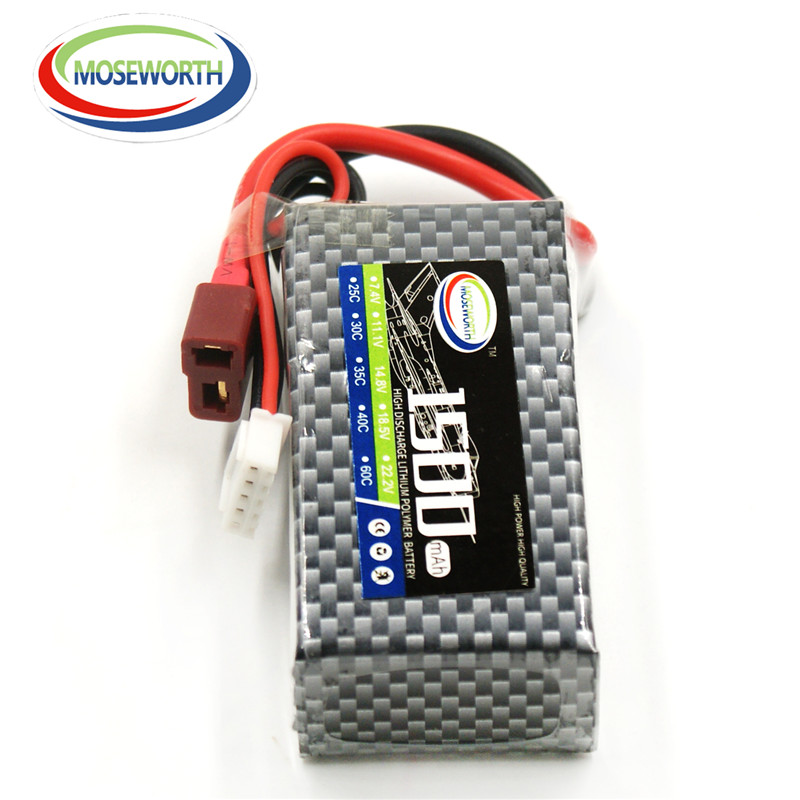 MOSEWORTH 5S RC LiPo Batterie 18.5 v 1500 mAh 25C Pour hélicoptère, voiture, bateau, quadcopter Li-Polymère batterie Livraison gratuite