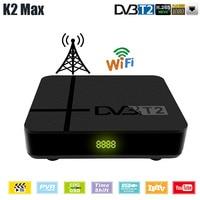 K2 Max DVB T2 TV Tuner Support IPTV H.265 RJ45 Network Terrestrial TV Receiver Full HD Digital DVB T2 Set Top Box