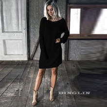 Casual Sweater Knitted Dress