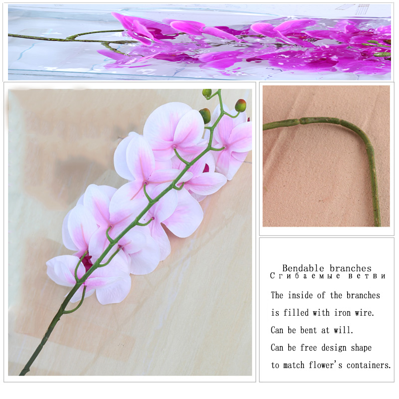 Fashion Orchid Artificial Flowers Bouquet For Wedding And Home Decoration 1