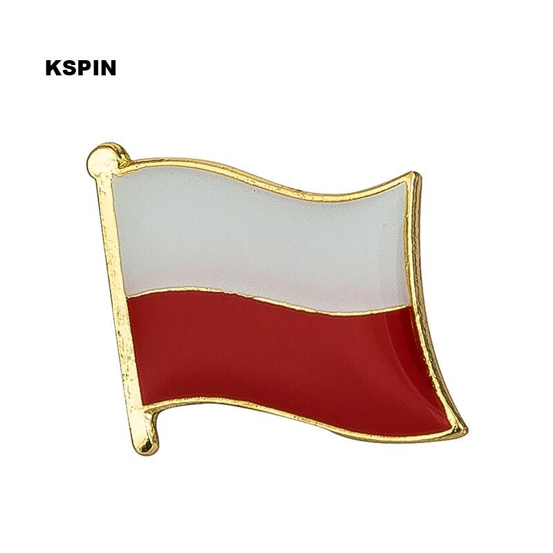 Poland flag lapel pin badge pin 300pcs a lot Brooch Icons KS 0038