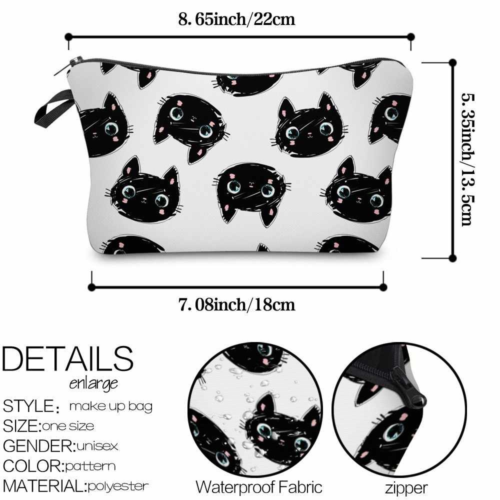 Deanfun Kucing Lucu Tas Kosmetik Tahan Air Percetakan Multifungsi Tas Kecantikan Menyesuaikan Logo untuk Perjalanan 51492