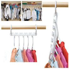 1 шт., 5 отверстий, Волшебные вешалки для одежды, экономия пространства, чудо-Волшебная вешалка для одежды, крючок, вешалки для одежды