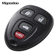 Mgoodoo 4 Button Keyless Entry Remote Car Key Shell Case Fob For Buick Pontiac G5 G6 Chevrolet Rubber Pad Replacement Covers