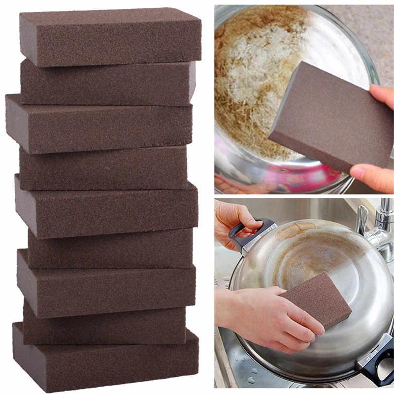 1PC 스폰지 카보 런덤 브러시 주방 세탁 매직 강력한 오염 제거 브러시 가정용 나노 에머리 녹 제거 도구