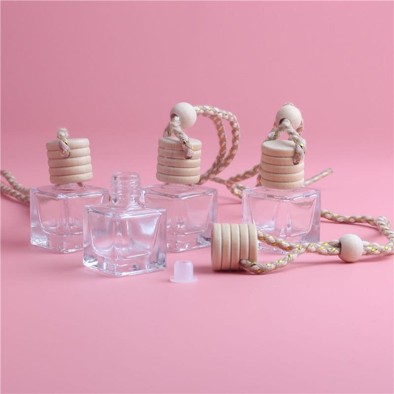 New Fashion 1PCS/LOT 5ML Mini Diamond Hanging Car Perfume Bottles Steam Car Accessories Bottle Empty Bottle