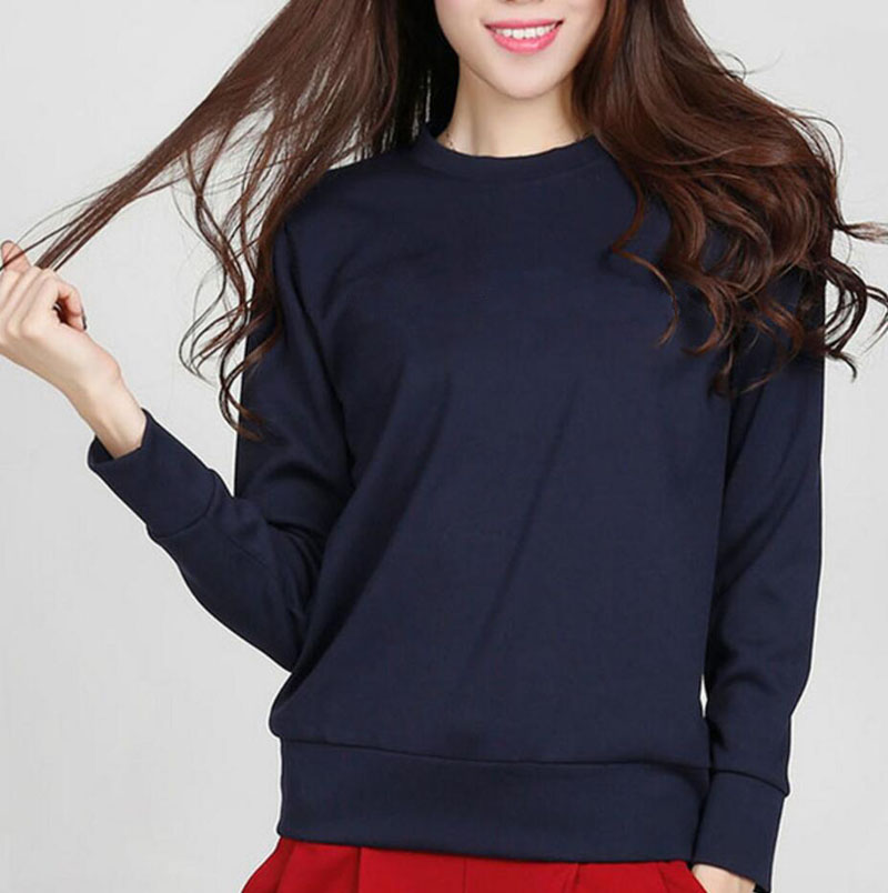 New Arrival Solid Color Women Sweatshirt Basic Hoodies 2020 Autumn Winter Casual Slim Fit Fleece Simple Style Hooded S-2XL