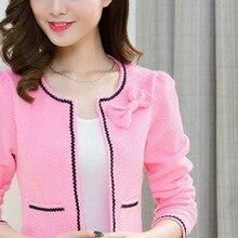 Elegant Women Round Neck Long Sleeve Formal Jackets