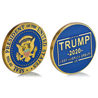 50 100 200pcs Donald J Trump 2020 Keep America Great! Presidential Seal Gold Challenge Coin