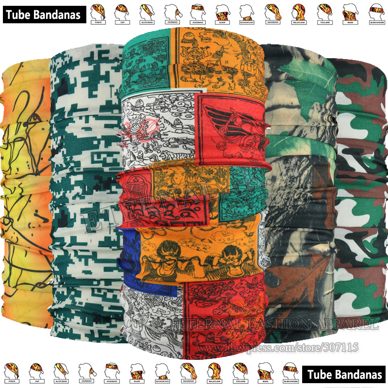 Envío EXPRESS Venta al por mayor 100 piezas Nueva llegada Unixed Outdoor Camo Ciclismo Bandana Headgear Magic Scarf Multifuncional Headwears