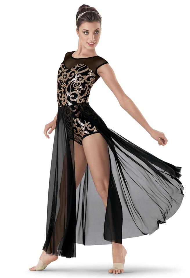 Ginástica Collant de Ginástica Collant Para Meninas Ballet Saia Dança Moderna Vestido Desempenho Roupas Trajes das Crianças Novas