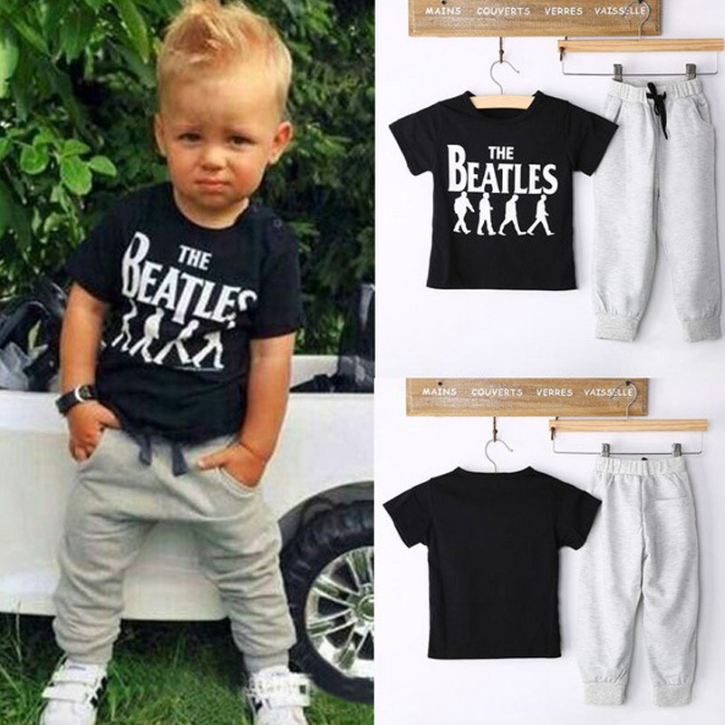 Summer Kids Clothes Sets Short Sleeve Boy T-shirt Pants Suit Clothing Set Newborn Sport Suits Children Baby Boy Clothes kids clothes 2017 fashion flare sleeve summer style teen girls t shirt black hole pants 2pcs suit children clothing sets fc003
