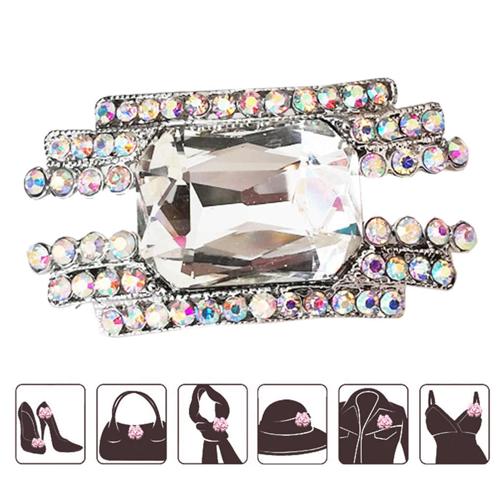 Shoe Clip High Heel Decoration Women Lady Charms Shoes Ornament DIY Buckle Rhinestone Glitter Luxury High-end Clothing Supplies