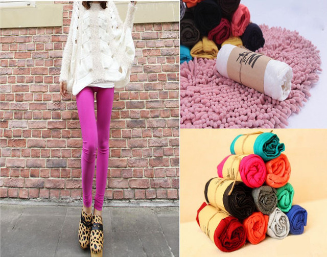 5Pcs wholesale/lots Hot 2013 Women Lady Sexy candy  solid Color  Leggings Pants Trousers Fashion  New