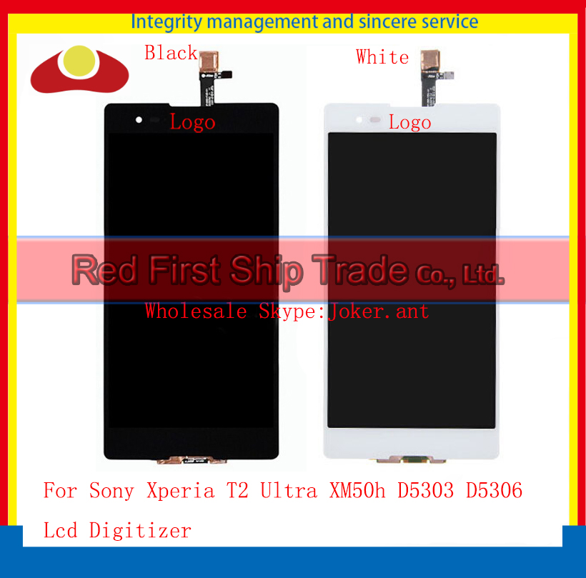 10Pcs/lot DHL EMS High Quality For Sony Xperia T2 Ultra XM50h D5303 D5306 Lcd Display Touch Screen Digitizer Assembly Complate 10pcs lot dhl ems high quality for sony