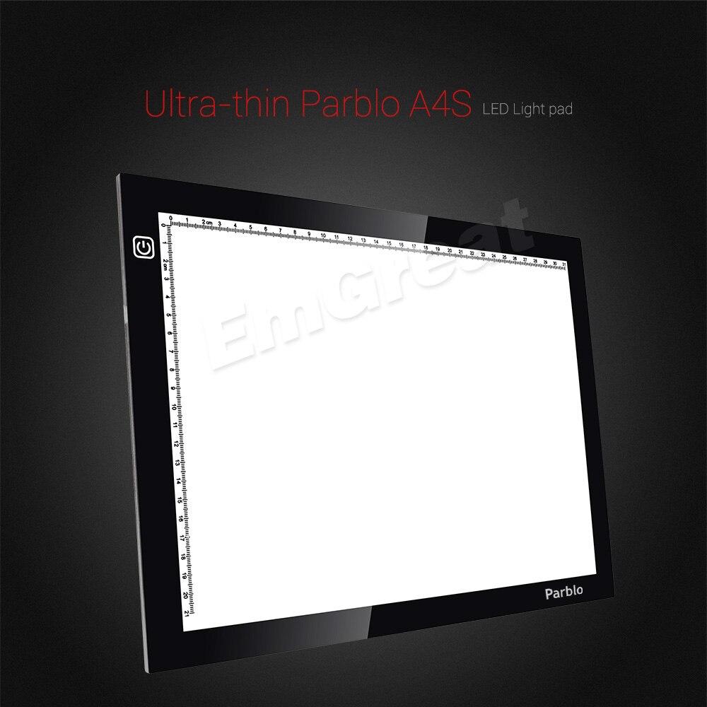 Parblo A4 Led Light Pad Copy Tracing Light Box Borad A4S Graphic - Computerrandapparatuur - Foto 2