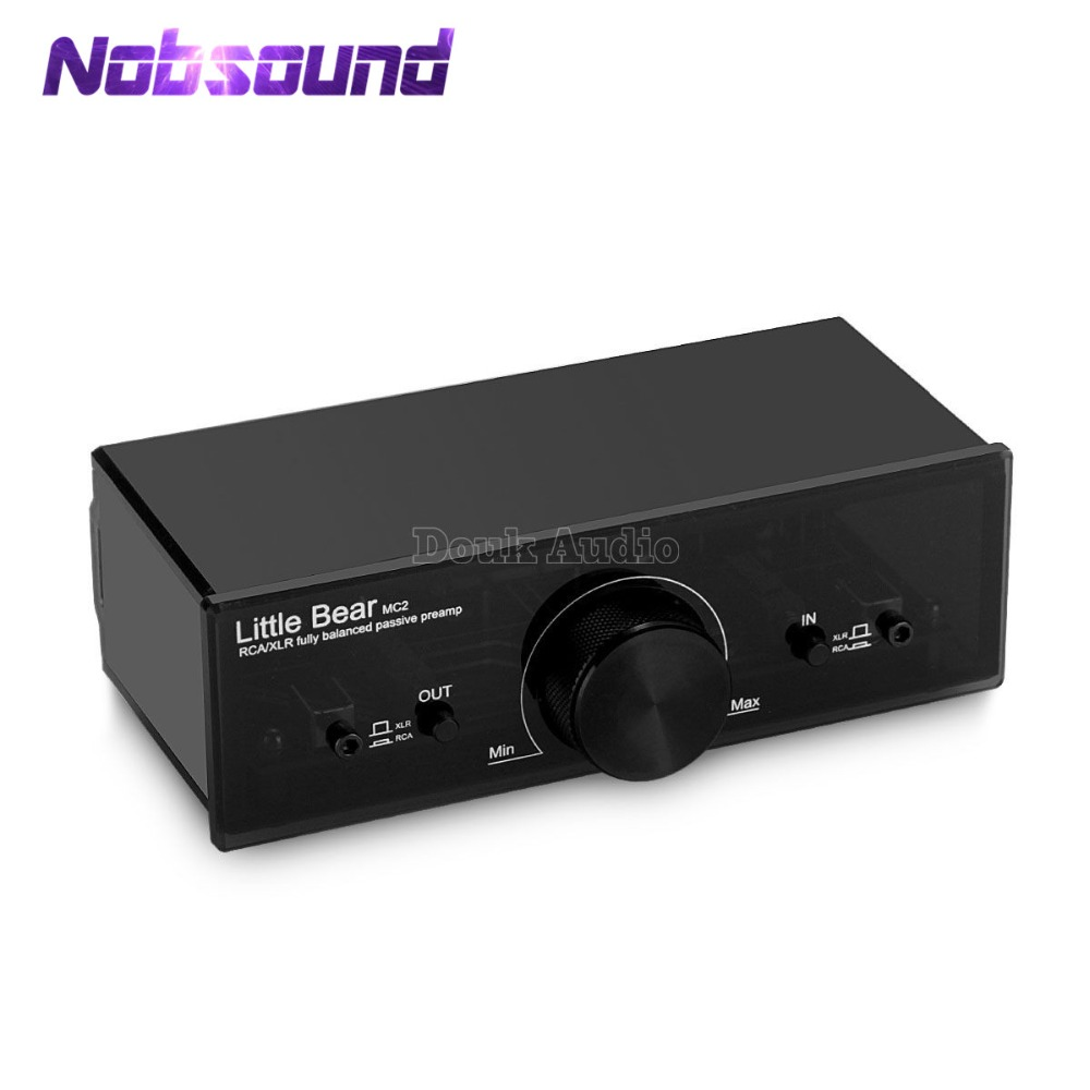 Nobsound Little Bear MC2 Fully Balanced Passive Preamp Pre-Amplifier XLR/RCA Controller Audio Signal Switcher