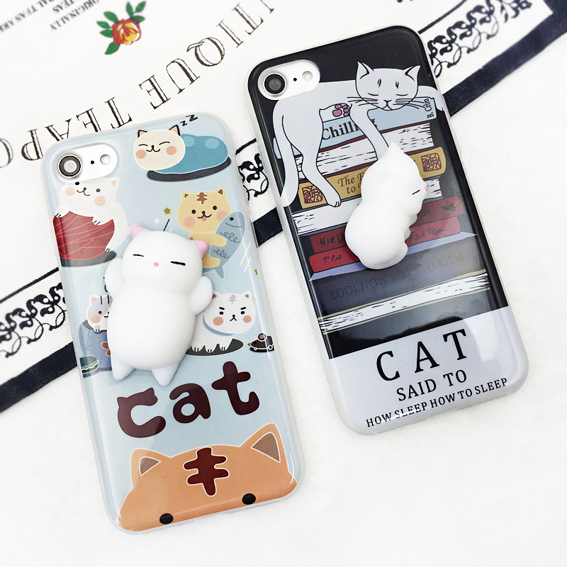 For Cubot Note S Cubot Dinosaur Rainbow X15 X17 Z100 Squishy Stereo Cat Claw Doll Case Mobile Phone Cover Bag Cellphone Housing