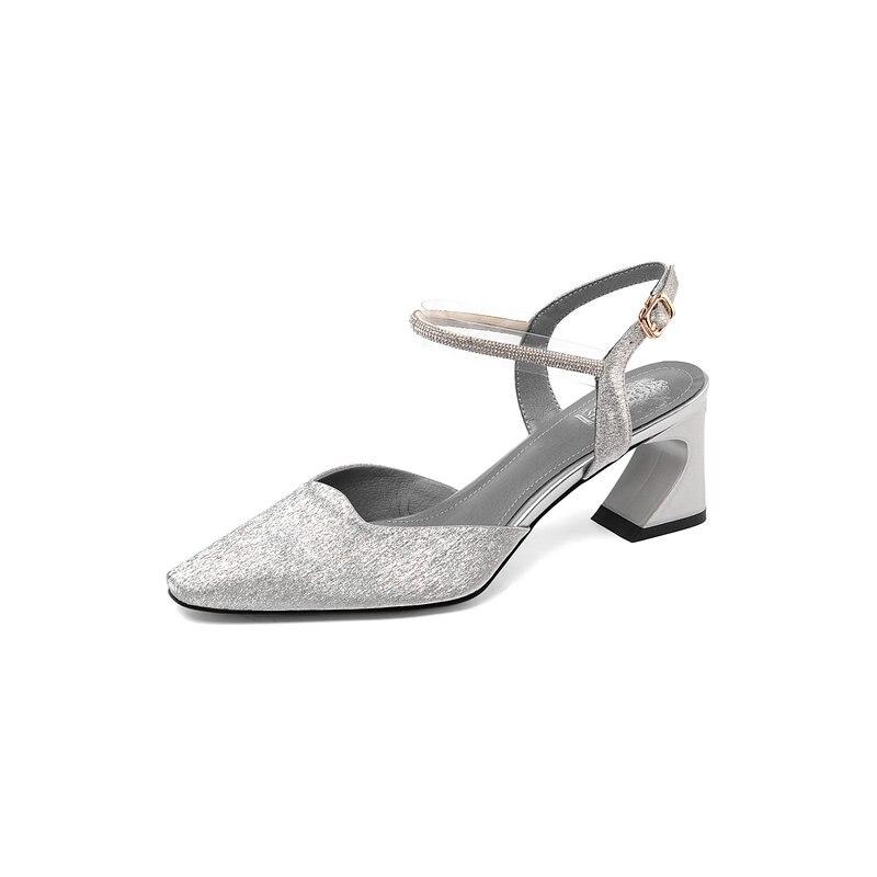 NEMAONE nowy projekt 2019 kobiety skórzane szpilki Prom szpilki na wesele letnie buty kobieta dziwne styl obcasy sandały w Wysokie obcasy od Buty na  Grupa 2