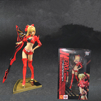 Anime Fate Stay Night Nero Figure Red Racing Suits Action Figure PVC Toy Collection Gift For Kids With Box 23cm