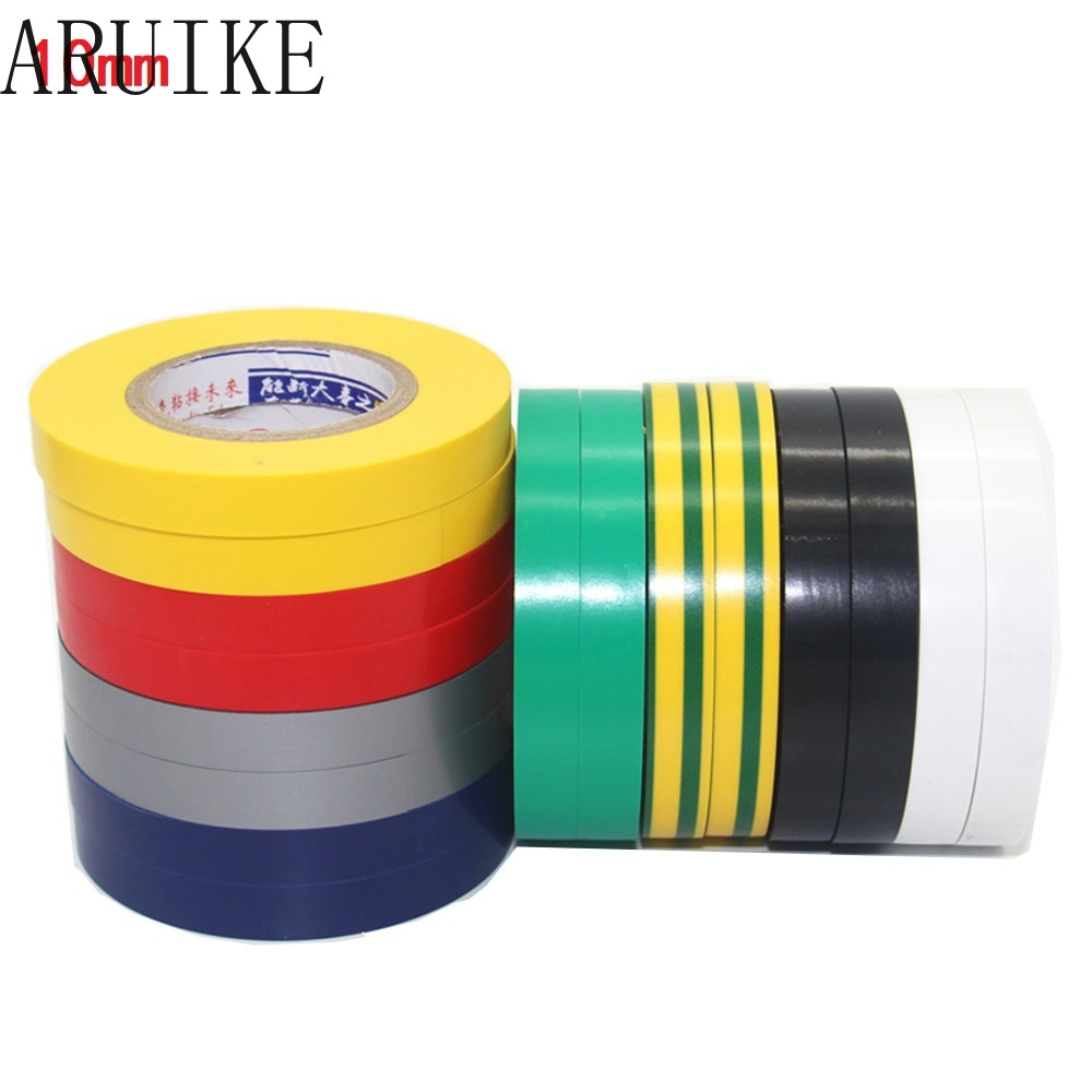 Electrical Tape 10mm X18 Meter Long 18mm Insulation  Black Large Volume  Multi-color For Wire Charging Cable DIY Tool