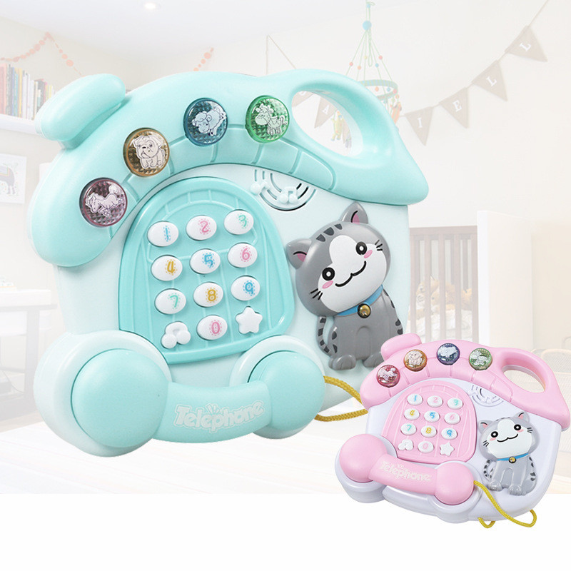 Baby Telephone Musical Educational Learning Toy Lights ...