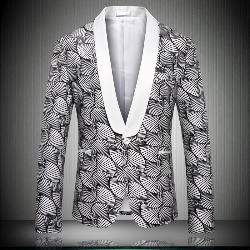 Nice Pattern Design Men 39 s Blazer Jacket 2019 High Quality New Great Designer Wedding Party Stage Wear Male Blazers 5XL K9012 in Blazers from Men 39 s Clothing