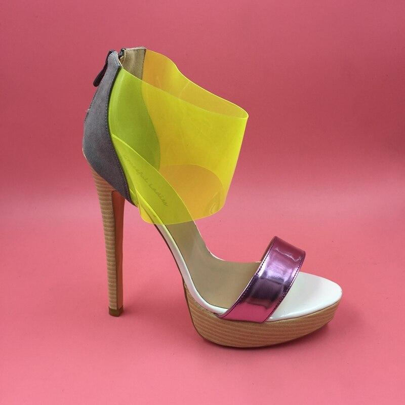 Bombas forme Jaune Plastique Sandales Clair Plate Feminino Salto Alto Hauts Femininas De Femmes Sapatos En Talons g1naq1Txw0
