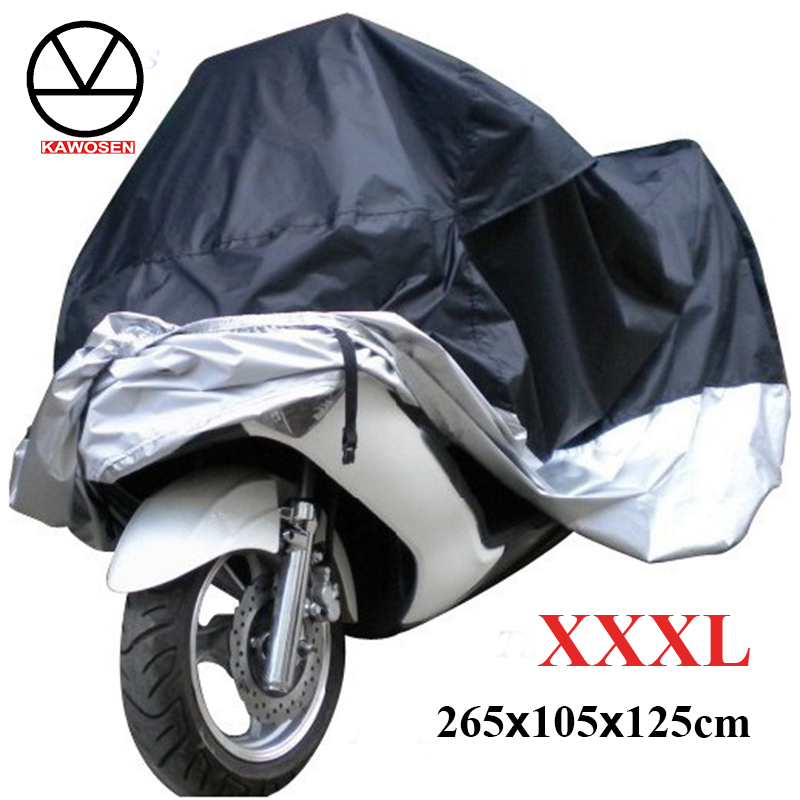 KAWOSEN Big Size XXXL Motorcycle Cover Waterproof Outdoor Uv Protector Dustproof, Covers For Motorcycle,Motor Cover Scooter G