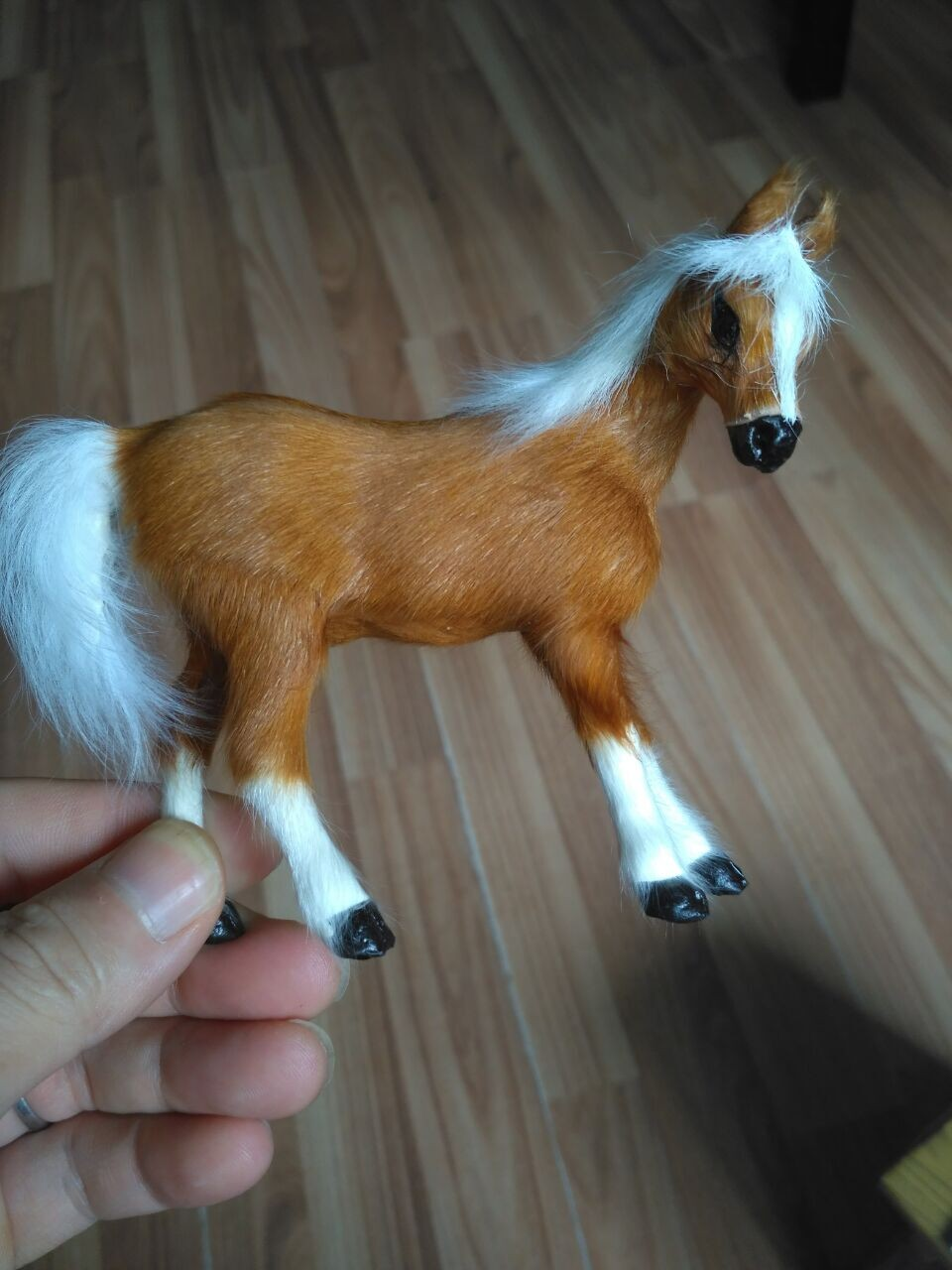 mini 10x8cm brown horse Handmade craft model toy,polyethylene& furs horse prop,home decoration toy Xmas gift w4060