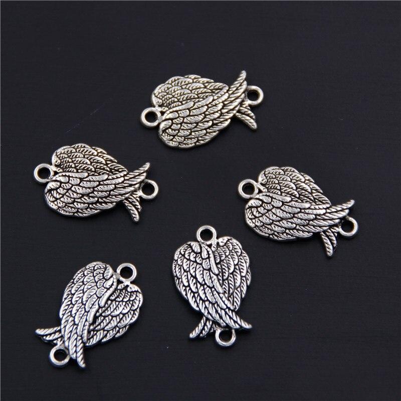 30 X Tibetan Silver Angel Fairy Jewellery Pendant Necklace Bracelet HOT DIY G KC