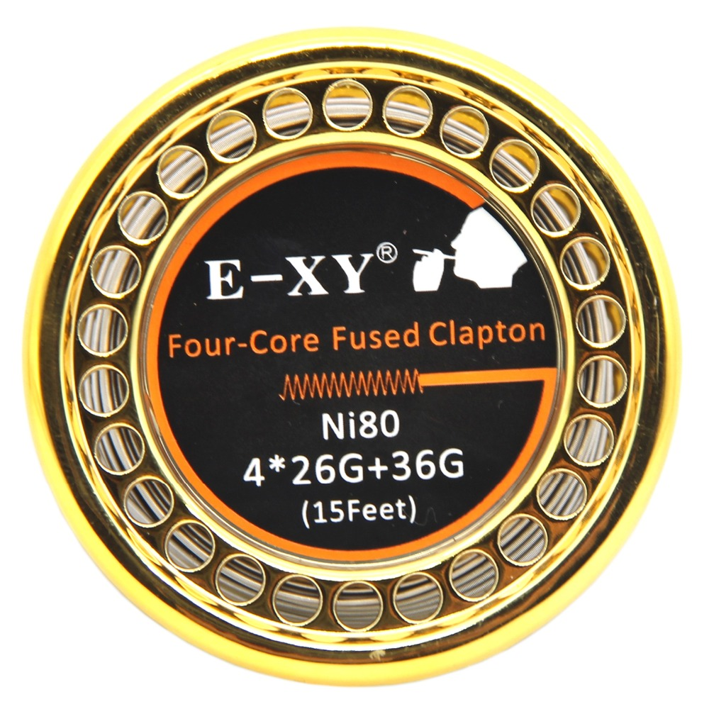 E-XY Heißer NI80 Verschmolzen Clapton Heizung Draht 5 mt/rolle Doppel/Tri/Vier Core Holt Zerstäuber Heizung drähte für RDA RBA DYI Spule