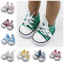 1pair 7*3.6cm Doll Shoes For United States Girl Fits 18 inch Dolls Baby Sport Girls Best Gifts Accessories