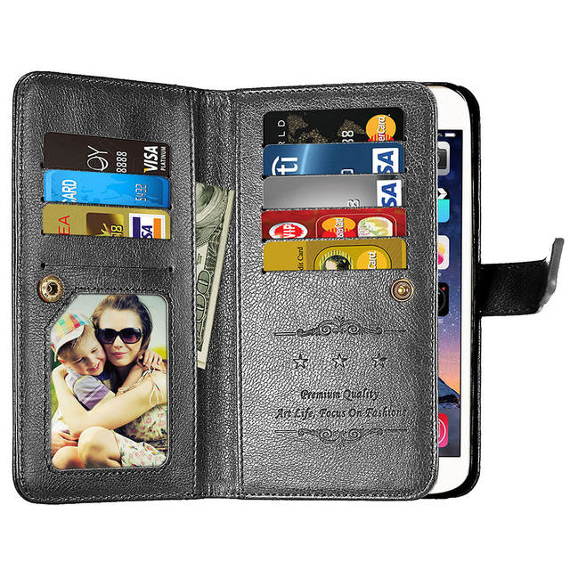 461eb098e89 Luxury PU Leather Case For Samsung Galaxy Note 8 Wallet Note8 Case Flip  Coque With 9Card Holder Cover For Samsung Note 8 Case