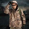 На открытом воздухе Весна Осень TAD Акула Кожи Жесткий Shell Давления Резиновые Камуфляж Водонепроницаемый Змея Текстуры Армия Тактический мужская Куртка