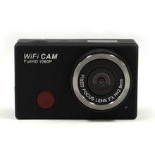 Freeshipping 30fps Full hd 1080 P спорт водонепроницаемая камера Мини-Камера DV-126 + WI-FI Пульт Дистанционного Управления