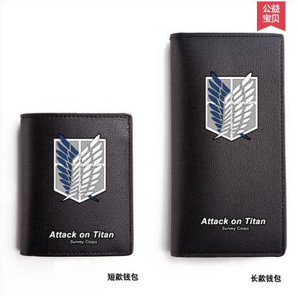 Attack on Titan cos Shingeki no Kyojin Logo printing Short section And long section PU Wallet man woman Casual fashion Wallet attack on titan shingeki no kyojin gold color fashion leisure canvas college winds man woman backpacks high capacity schoolbag