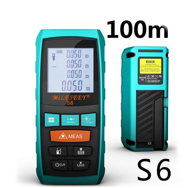 Laser Rangefinder Laser Distance Meter Digital Laser Range Finder Laser Tape Measure 100M Tester Area/volume/Angle Tester tool