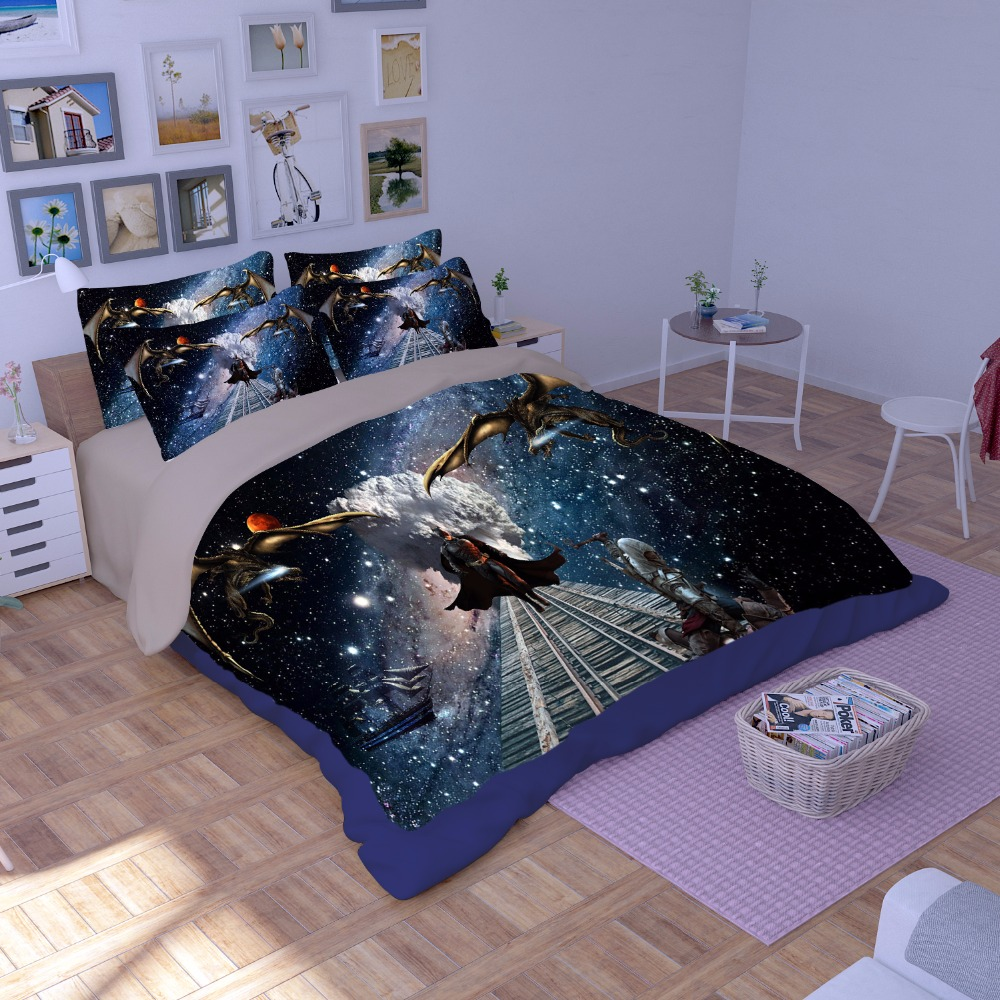 New fashion Cartoon Batman printing bedding sets bedspread bed sheets kids Children s duvet covers single