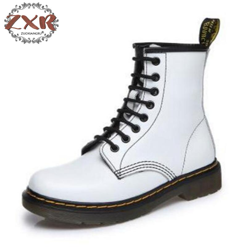 Winter Warm Genuine Leather Martin Boots Botas Feminina Female Motorcycle Boots Fashion Shoes Zapatos Mujer Ankle Boot For Women fashion white silver boots women punk boot shoes woman 2018 spring super cool ankle boots for women bota feminina zapatos mujer