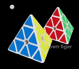 Image 4 - 3X3X3 משולש פירמידת קסם מקצועי מהירות משחק קוביות כיף חינוכיים צעצוע מתנות לילדים ילדים