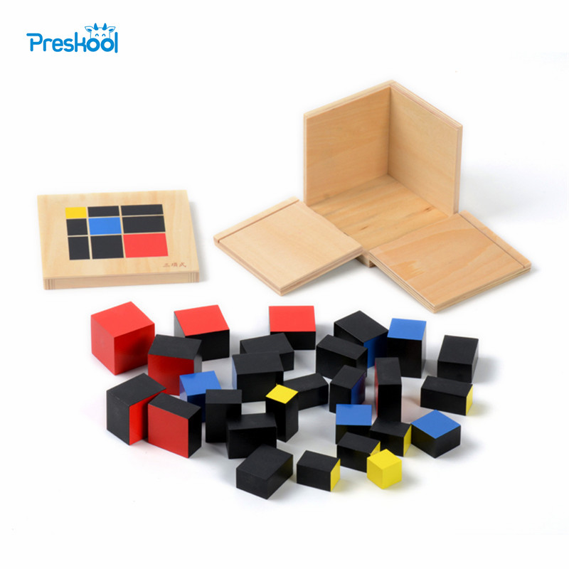 Baby Toy Montessori Trinomial Cube Math for Early Childhood Education Prasekolah Latihan Belajar Mainan Hadiah Besar