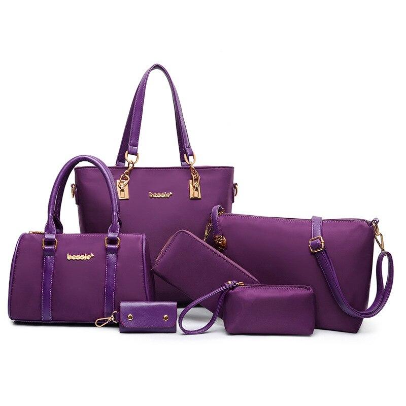 Women Handbags Leather Shoulder Bag Fashion Female Totes High Quality Six-Piece Set Designer Brand Bolsa Feminina 2018 New