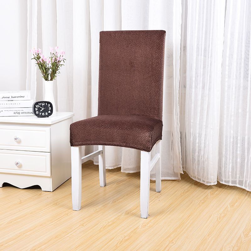 cheap dining room chair | European Dark Coffee Color Dining Room Chair Slipcover ...