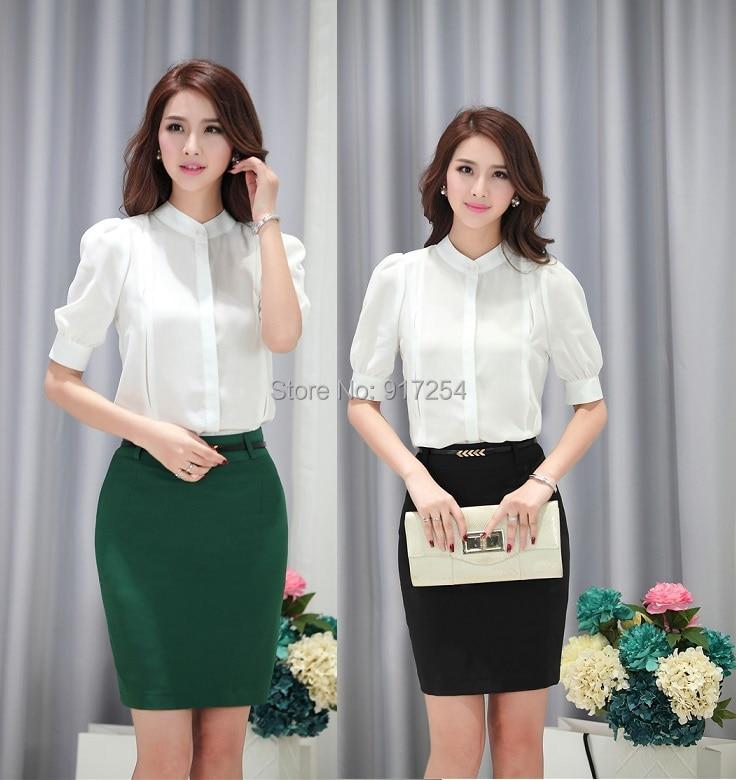 Popular New Women Office Uniforms Blouse and Skirt-Buy Cheap New ...