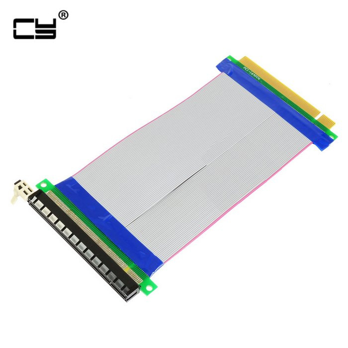 20cm PCI-E 16X Male To Female Riser Card Adapter Extender Cable PCI E 16 X Pci Express Flexible Riser For Video Card Computer