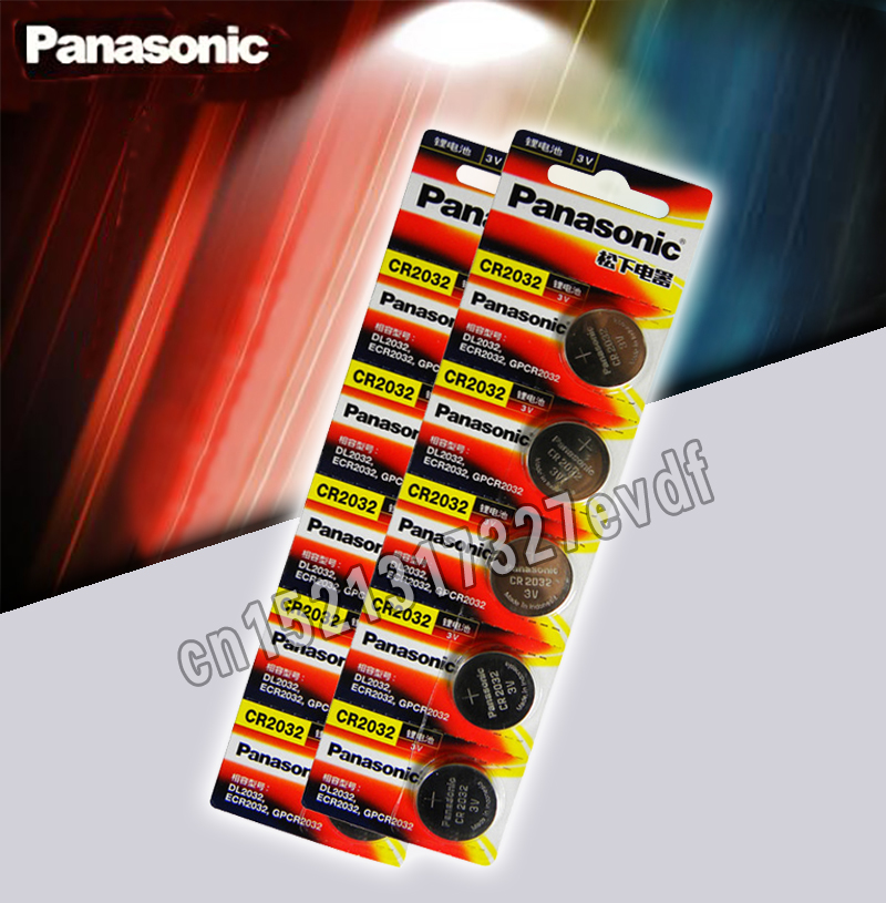 Panasonic Original 10pcs/lot Cr 2032 Button Cell Batteries 3V Coin Lithium Battery For Watch Remote Control Calculator Cr2032