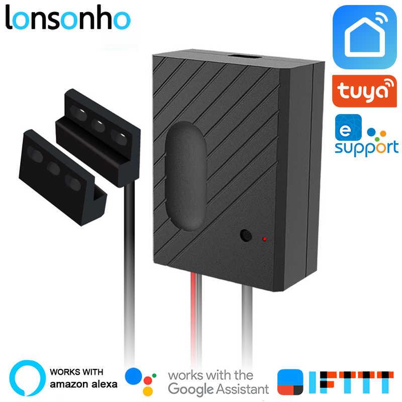 Lonsonho inteligentny do otwierania drzwi garażowych przełącznik Wifi przekaźnik zdalnego sterowania współpracuje z Alexa Google Home IFTTT Tuya Smart życie eWeLink